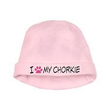 I Heart My Chorkie baby hat