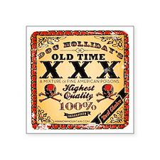 "Doc Hollidays Old Time XXX Square Sticker 3"" x 3"""