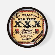 Doc Hollidays Old Time XXX Wall Clock