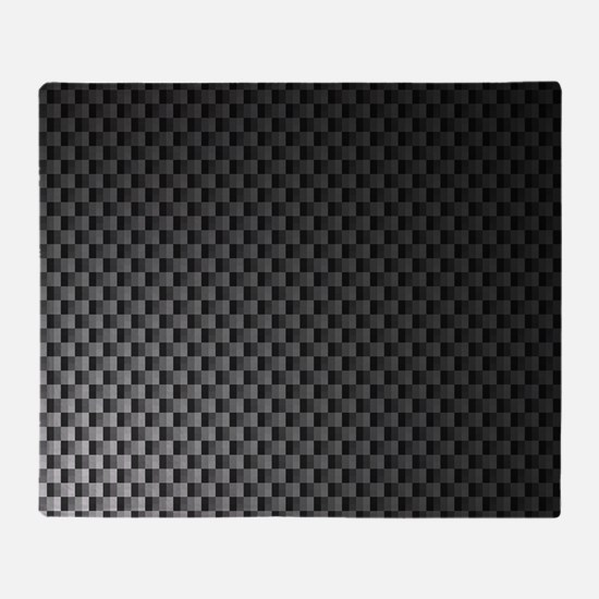 Carbon Fiber Pattern Throw Blanket