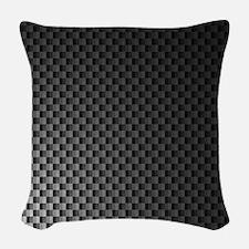 Carbon Fiber Pattern Woven Throw Pillow