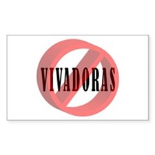 No Vivadoras / No Free Loaders Sticker (Rectangula