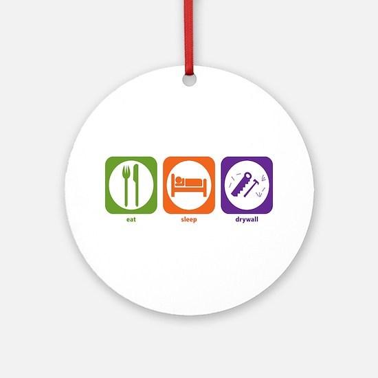 Eat Sleep Drywall Ornament (Round)