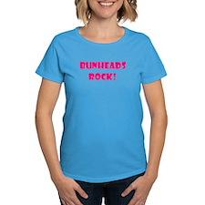 """NEW! """"Bunheads Rock!"""" Women's Blue T-Shirt"""
