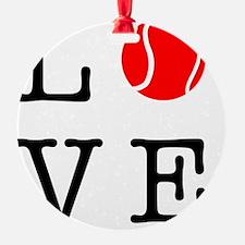 Love Tennis Ornament