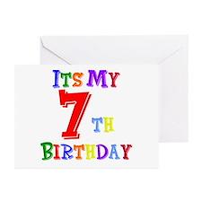 7th Birthday Greeting Cards (Pk of 10)