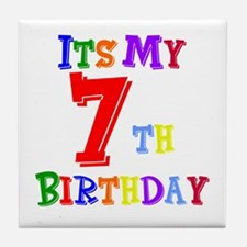 7th Birthday Tile Coaster