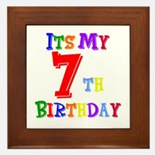 7th Birthday Framed Tile