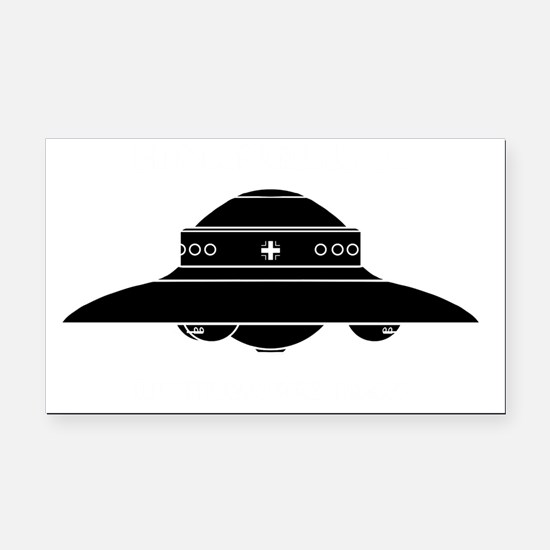 Nazi UFO - Haunebu II Rectangle Car Magnet