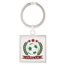 Retro Italian soccer design Square Keychain