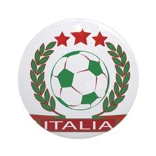 Retro Italian soccer design Round Ornament