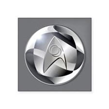 "Star Trek Science Officer E Square Sticker 3"" x 3"""