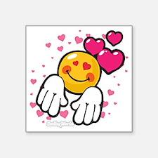 "loving you Square Sticker 3"" x 3"""