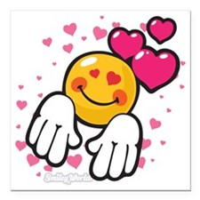 "loving you Square Car Magnet 3"" x 3"""