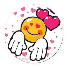 loving you Round Car Magnet