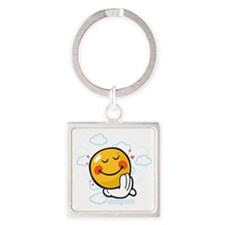 day dreaming Square Keychain