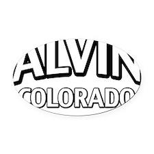 Alvin Colorado Oval Car Magnet