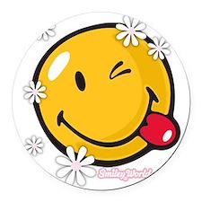 flower me Round Car Magnet