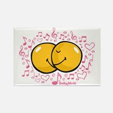 music and love Rectangle Magnet