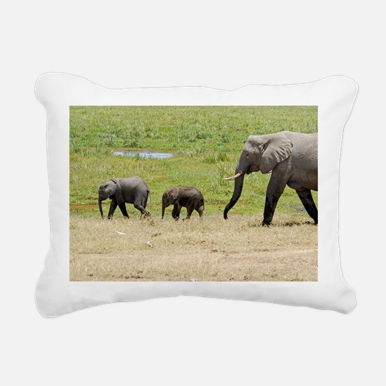 Elephant family Rectangular Canvas Pillow