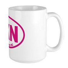 Lake Norman NC Euro Oval Sticker Mug