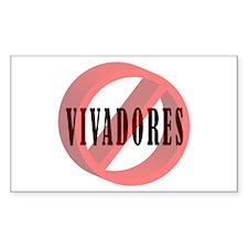 No Vivadores / No Free Loaders Sticker (Rectangula