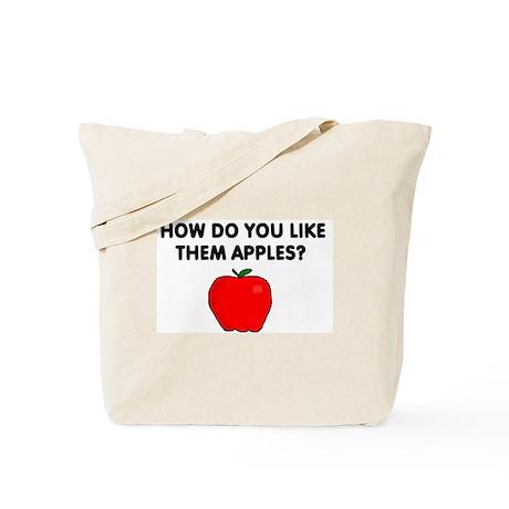 ATTITUDE APPLE Tote Bag