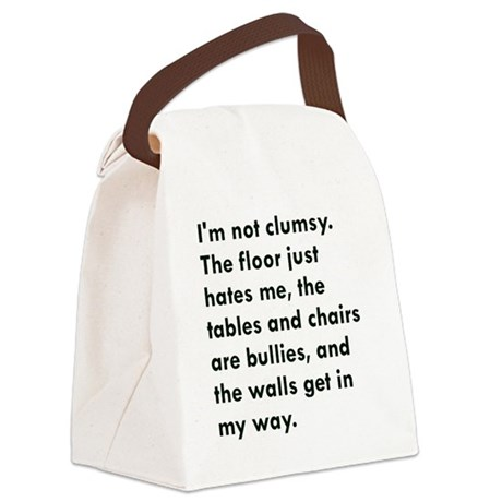Im not clumsy Canvas Lunch Bag
