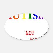 Autism Warrior Oval Car Magnet