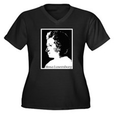 Rosa Luxemburg Women's Plus Size V-Neck Dark T-Shi