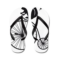 squirrel on vintage bicycle Flip Flops