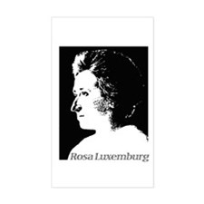 Rosa Luxemburg Rectangle Decal