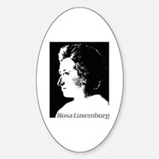 Rosa Luxemburg Oval Decal