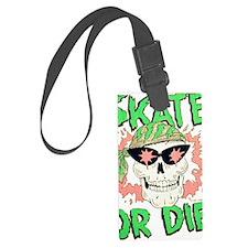 Retro 80s Skate or Die Skull Luggage Tag