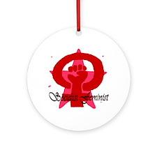Socialist Feminist Ornament (Round)