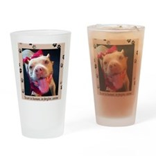To err is human, to forgive, canine Drinking Glass