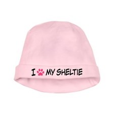 I Heart My Sheltie baby hat