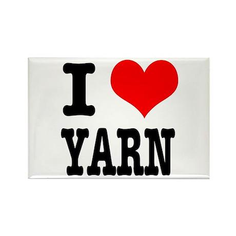 I Heart (Love) Yarn Rectangle Magnet (100 pack)