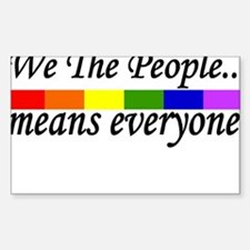 we the people Rectangle Decal 10 pk) Decal