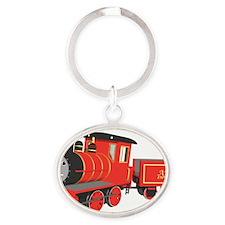 Shawn the train classic Oval Keychain
