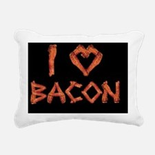 I Love Bacon Rectangular Canvas Pillow