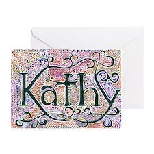 Kathy Greeting Card