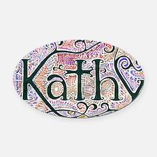 Kathy Oval Car Magnet