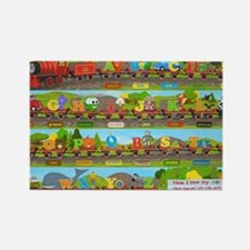 Alphabet Train Poster XL, 36x24,  Rectangle Magnet