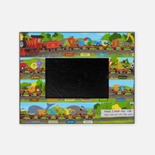 Alphabet Train Poster XL, 36x24, Gre Picture Frame
