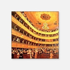 "Klimt: The Old Burgtheater Square Sticker 3"" x 3"""
