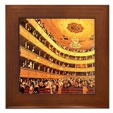 Gustav klimt burgtheater Framed Tiles