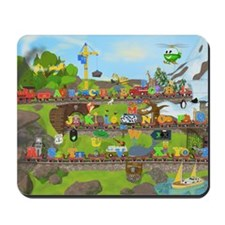 Alphabet Train Poster, 36x24, Two Object Mousepad