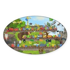 Alphabet Train Poster, 36x24, Two O Decal