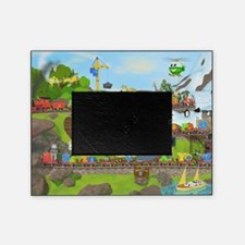 Alphabet Train Poster, 36x24, Two Ob Picture Frame